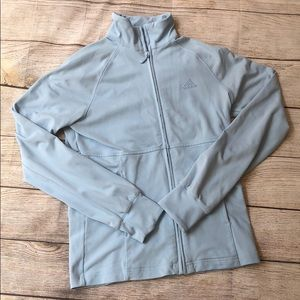 ADIDAS Light blue zip up with pockets